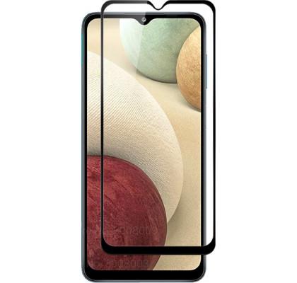Защитное 2D стекло для Samsung A12 (A125) (с рамкой Black)