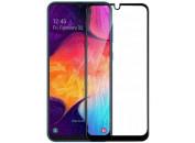 Защитное 2D стекло для Samsung A20 / A30(A305) / A50(A505) (с рамкой Black)