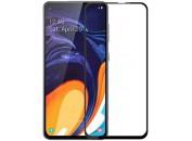 Защитное 2D стекло для Samsung A60 (A6060) (с рамкой Black)