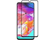 Защитное 2D стекло для Samsung A51 / A71 (с рамкой Black)