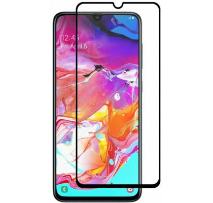 Защитное 2D стекло для Samsung A71 / A72 (с рамкой Black)