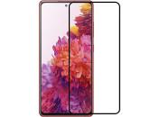 Защитное 2D стекло для Samsung S20 FE (с рамкой Black)