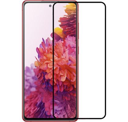 Защитное 2D стекло для Samsung A72 (с рамкой Black)