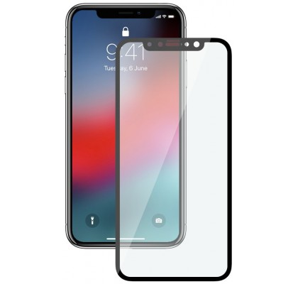 Защитное 2D стекло для iPhone XS Max (с рамкой Black)