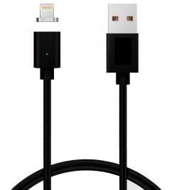 Кабель магнитный USB/Lightning Clip-ON Black