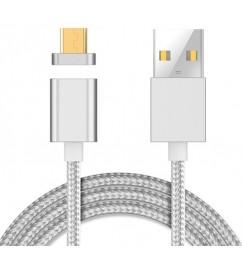 Кабель магнитный USB/Micro Clip-ON Silver