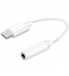 Переходник USB Type C на mini jack 3.5 мм White