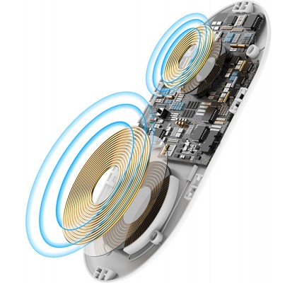 Беспроводное зарядное устройство Baseus Wireless Charger Smart 2 in 1 White (WX2IN1-02)