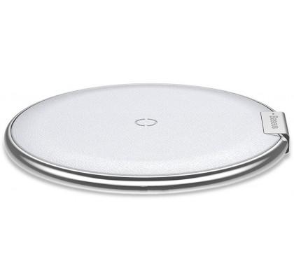 Беспроводное зарядное устройство Baseus iX Desktop Wireless Charger Leather White