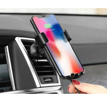 Беспроводное зарядное устройство Hoco CW12 Car Holder Black