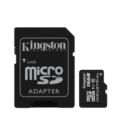 Карта памяти Kingston microSD 16Gb class 10 + SD