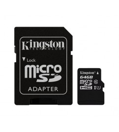 Карта памяти Kingston microSD 64Gb class 10 + SD