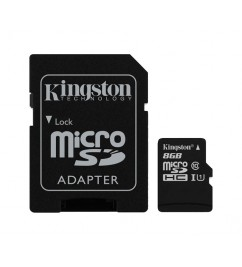 Карта памяти Kingston microSD 8Gb class 10 + SD