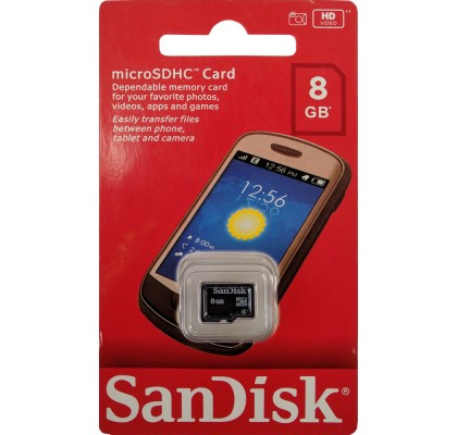 Карта памяти SanDisk microSD 8Gb class 4